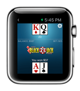 Blackjack Apple watch