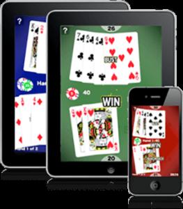 Blackjack spelen op mobiel