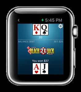 Blackjack Apple watch